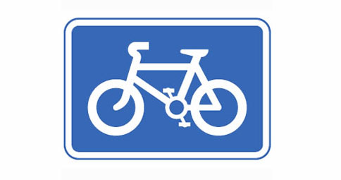 Routes recommended for cyclists