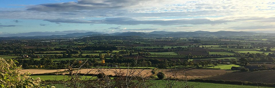 The Malverns from Much Marcle